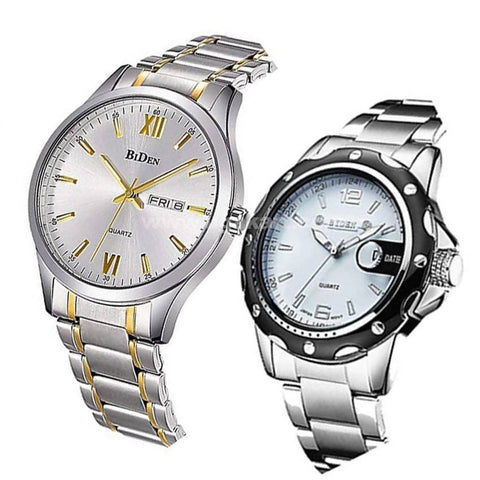 Two Pack of Stainless Steel BIDEN Watch