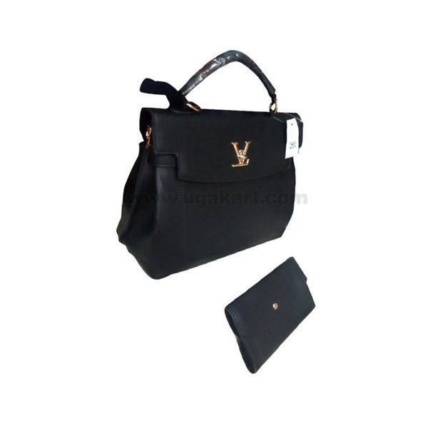 VL Black Ladies Handbag Set Of 2