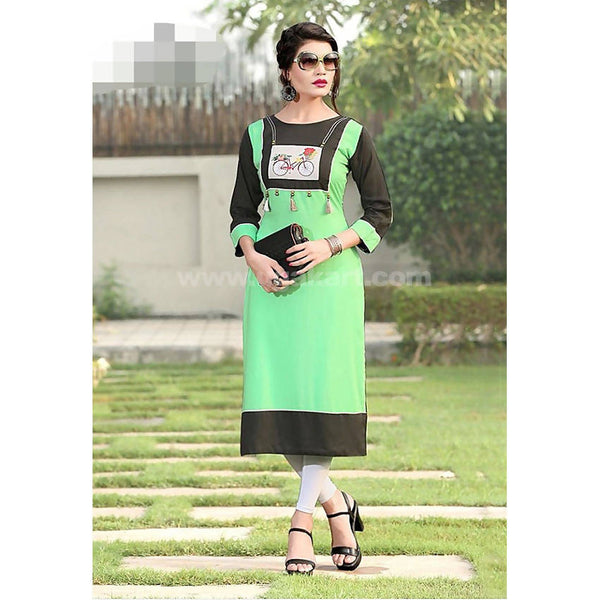Top Kurti Soft Reyon Material With Legging Full Set- XXL (Bust Size - 42)