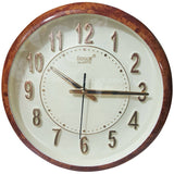 SONAM QUARTZ Brown Frame Round Wall Clock
