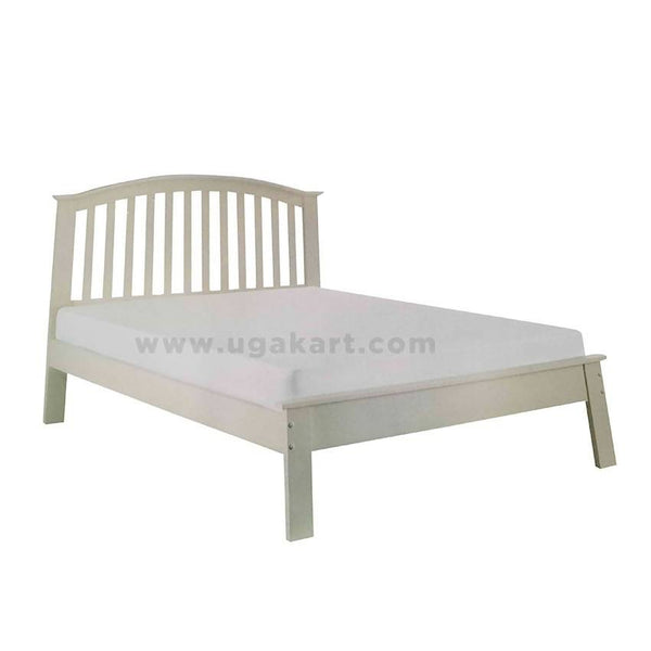 White Cottage Style Wooden Double Bed