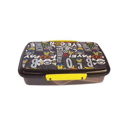 Black Lunch Box With Spoons