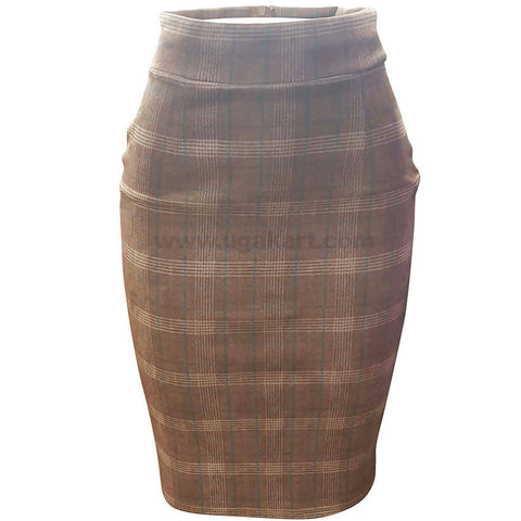 Women's Fit Skirt Checked