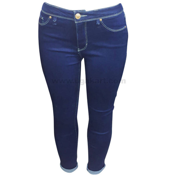 Women's Plain Blue Skinny Jean