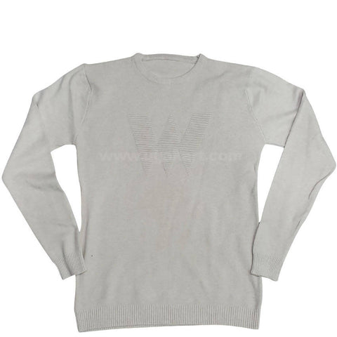 Men's Rounded Neck Sweater_White