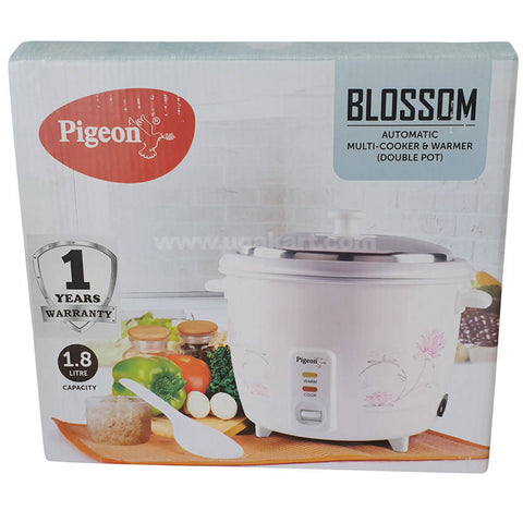 Pigeon Blossom Automatic Cooker & Warmer (Double Pot)_1.8 Litre
