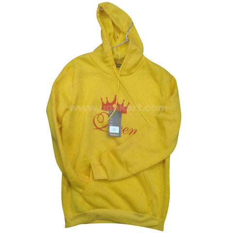 Yellow Queen Branded Hoodie Jumper (FreeSize)