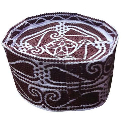 Kifia Turban Cap Brown and White For Men
