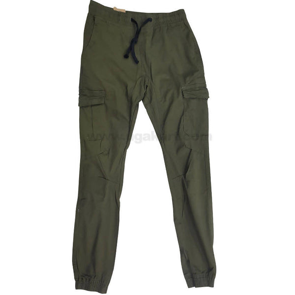 Cotton Olive Color Cargo Trouser For Mens