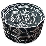 Kifia Turban Cap Black and White For Men
