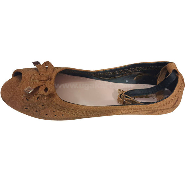 Essentials Beige Girls Ballet Flat (Size-28 to 36)