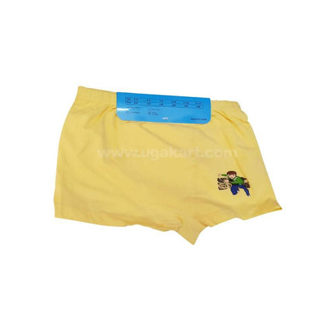 Yellow Underware/Panties For Boys_2Pc_6Yrs To 10Yrs