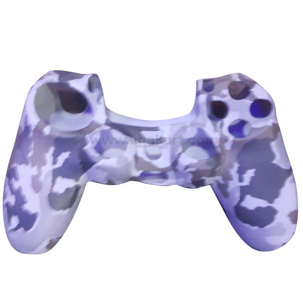 White Blue Crystal Skin Protective Rubber Case Cover For XBOX Wireless Controller