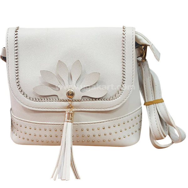 Cream Designer Ladies Cross Bag