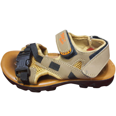Tita Yellow and Black Open Shoes For Boys