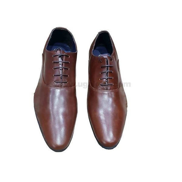 Mens Lace-Up Gentle Shoes - Coffee Brown