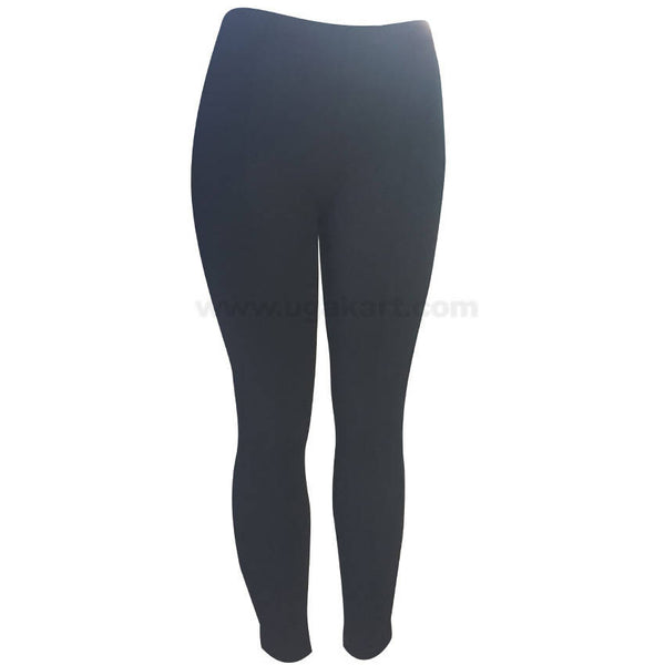 Black Fit Pant With Elastic For Women