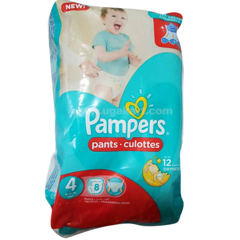 Pamper Lowcount With 8pc-No4