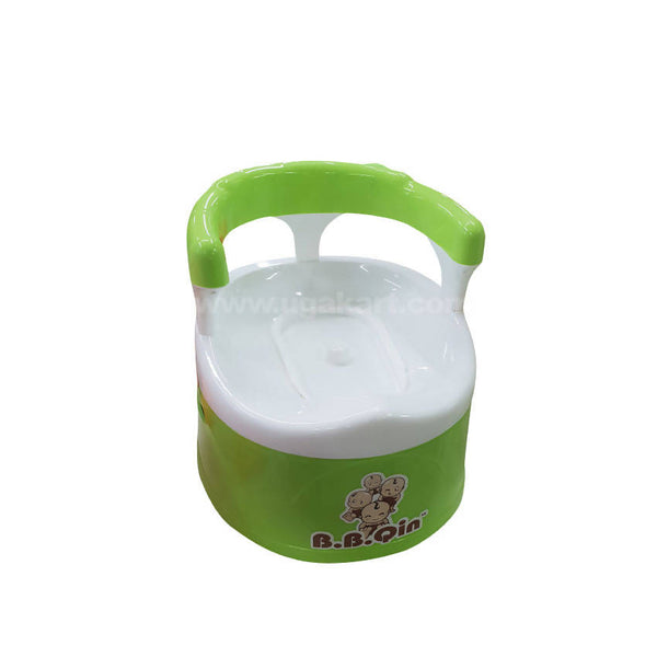 B.B.Qin Toilet Trainer Potty Seat For Kids-White & Green