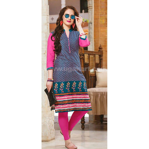 Top Kurti Cotton Material With Legging- XXL (Bust Size - 40)