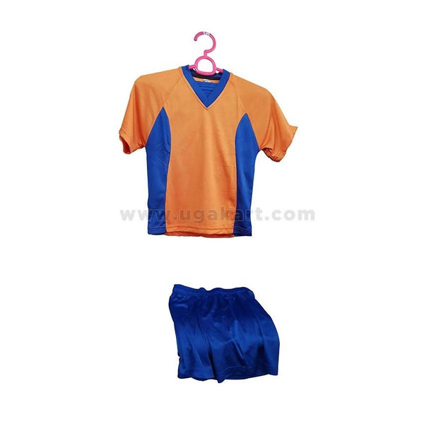 Blue & Orange Color Kids Football Jersey
