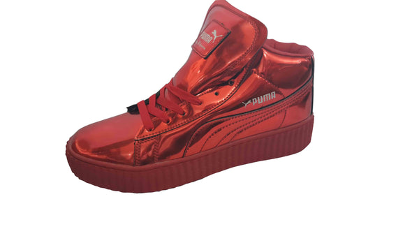 PUMA Lace Detailed Casual Sneakers For Men - Red