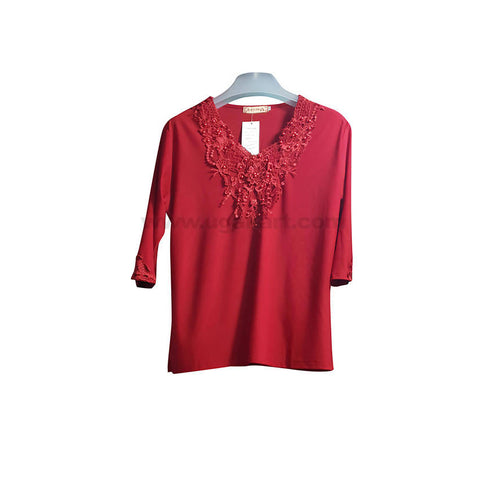 Top For Women In Blue,Black,Neviblue,Mahroon,Pink,Red,Cream,Grey,Brown-Size XL,XXL,XXXL