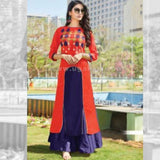 Long Kurti In Red And Purple Color - Size XXL