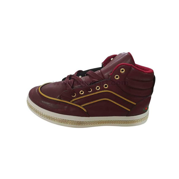 Sneakers Shoe With Zip Desgin_Maroon