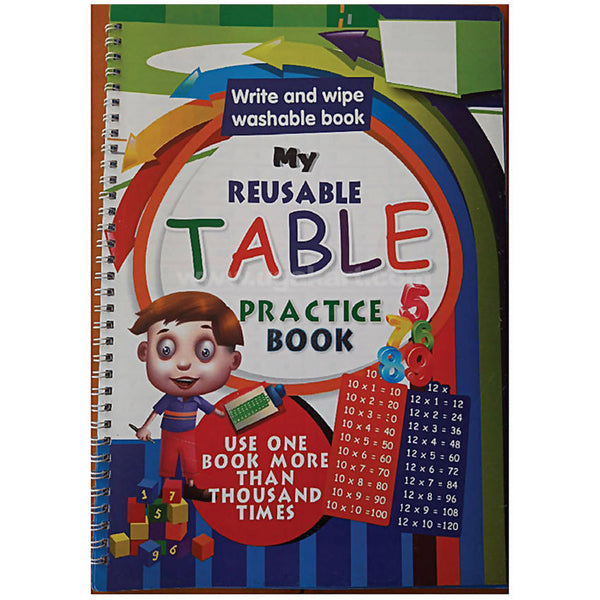 My Reusable Table Practice Book (Washabble Book)