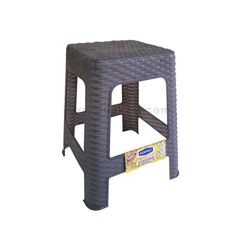 Kenpoly Bamboo Finish Plastic Stool