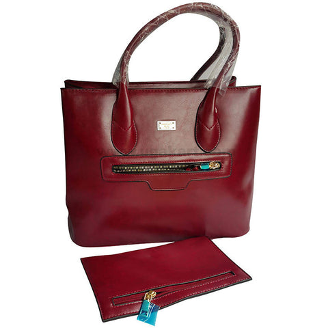Maroon Hand Bag Set of 2