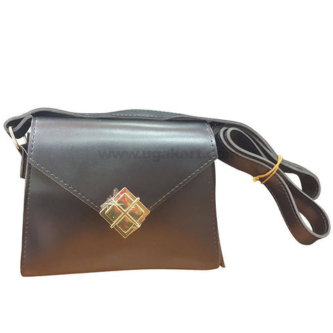 Four Square Black Womens Cross Bag