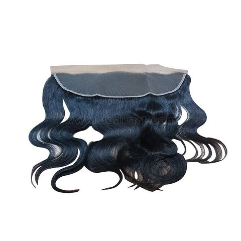 Human Hair Weave- Black -Front 13/4
