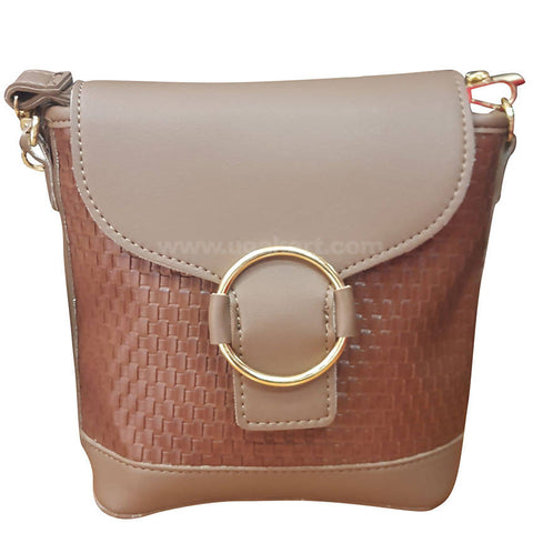 O Dark Brown Ladies Cross Bag