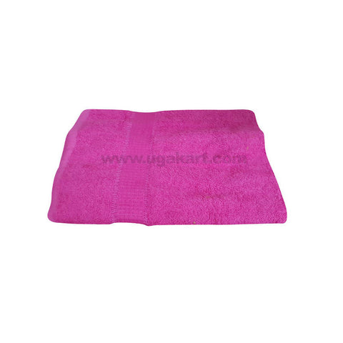 Bath Towel Plan Dark Pink-Size 70X140Cm