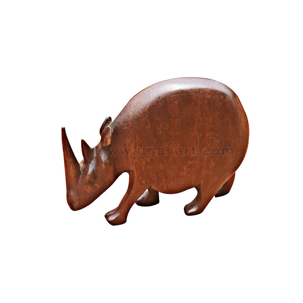 rhino wooden sculpture