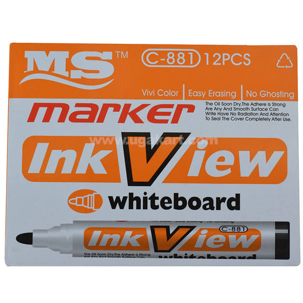 MS Ink View WhiteBoard Marker_12 Pcs