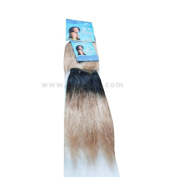 Human Hair Weave-Black & Golden- 2 Pc With 8 Inch