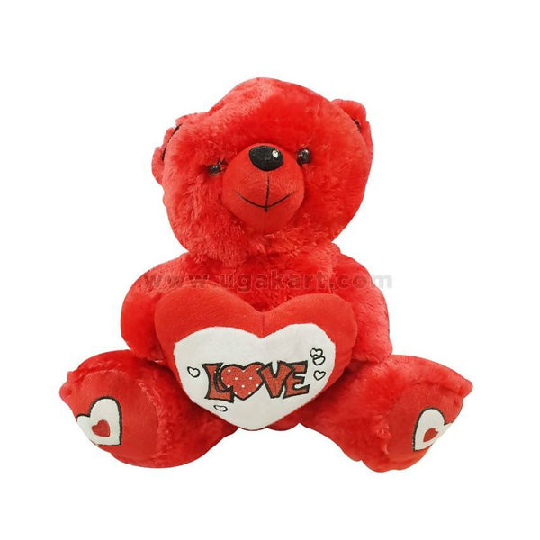 Red Teddy Bear With Love Heart