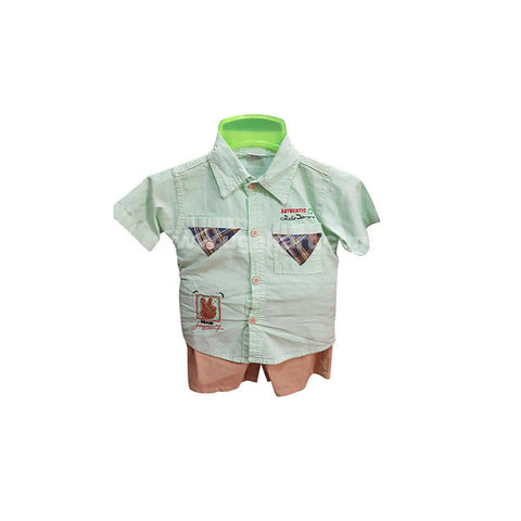 Shirt And Brown Shorts For Boy_1 m to 3 m