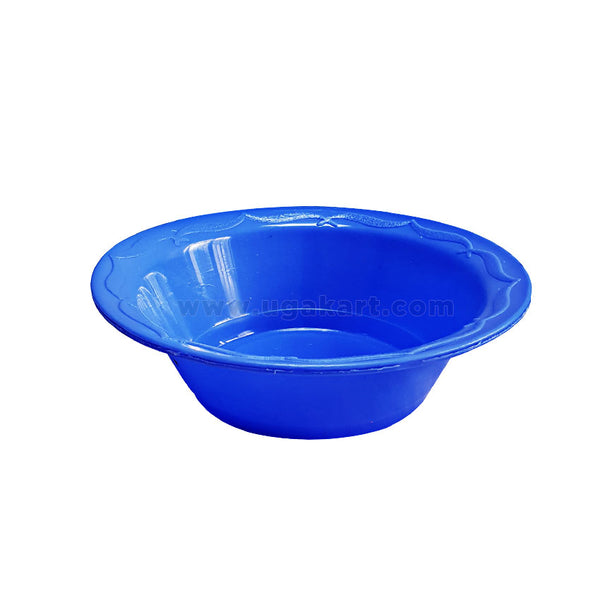 4pcs Kitchen Ware Rounded Plastic Plate - Blue