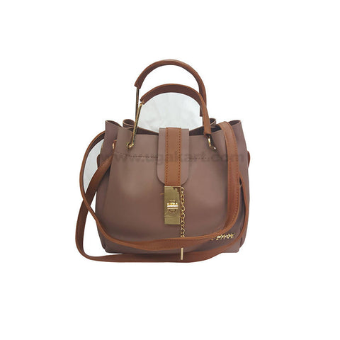 CE Line Brown and Brown HandBag For Women's