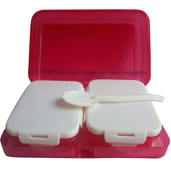 White Red Lunch Box