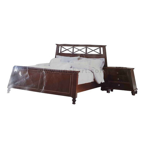 Dark Brown Double Bed
