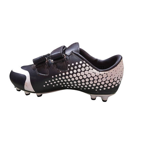 Black and White soccer cleat Shoe