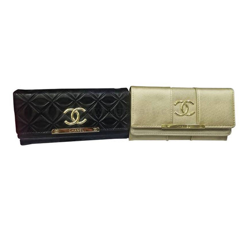 2 Piece Women's Chanel Clutches - Black and Cream