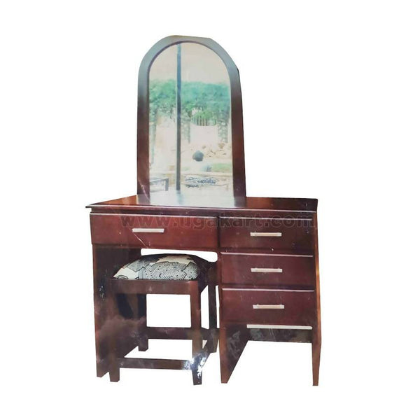 Wooden Dressing Table With Mirror And Chair