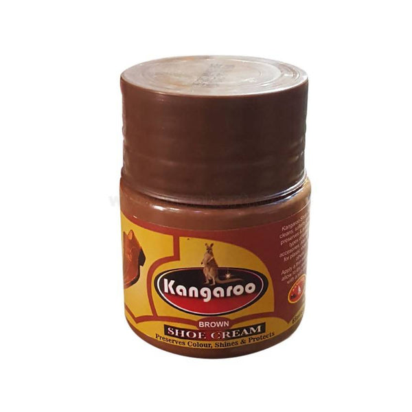 Kangaroo Brown Shoe Cream 65ml-2Pcs