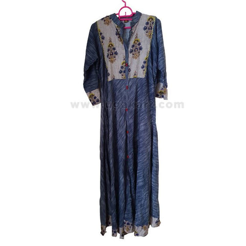 Multi-colored Long Ladies' Dress - Size L